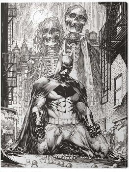 Canvas Print DC Comics - Batman Haunted