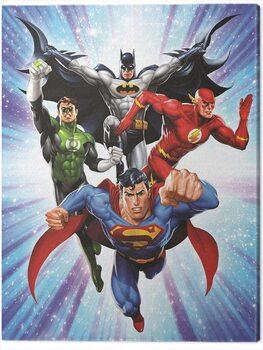 Canvas Print DC Comics - Justice League - Supreme Team
