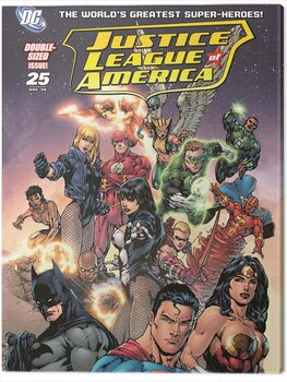 Canvas Print DC Justice League - Group Cover