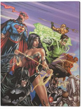 Canvas Print DC Justice League - Ready For Action