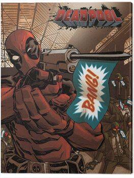 Canvas Print Deadpool - Bang