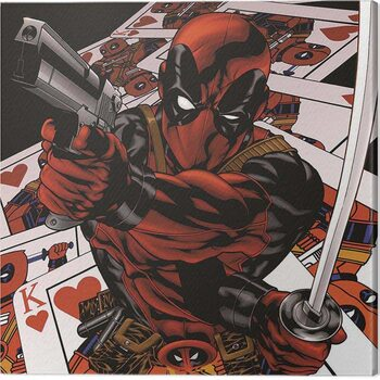 Canvas Print Deadpool - Cards
