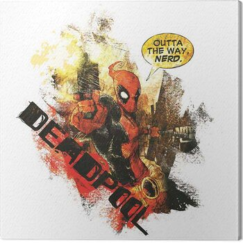 Canvas Print Deadpool - Nerd