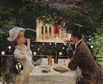 Dinner at Les Ambassadeurs, c.1882 Canvas Print