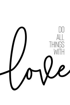 Do all things with love Canvas Print
