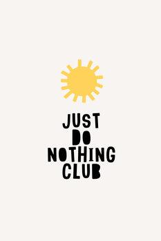 Canvas Print Do Noting Club