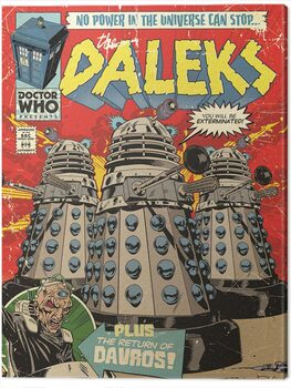 Canvas Print Doctor Who - The Daleks Comic