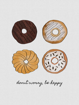 Canvas Print Donut Worry Be Happy