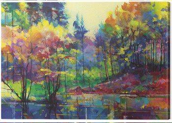 Canvas Print Doug Eaton - Meadowcliff Pond