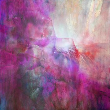 Canvas Print drifting - composition in purple