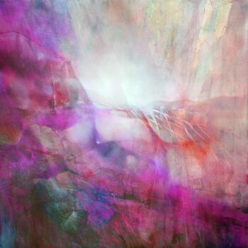 Canvas Print drifting - pink composition