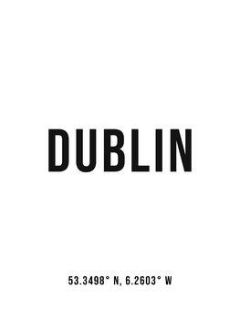 Canvas Print Dublin simple coordinates