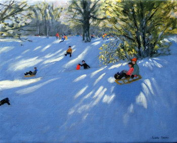Early snow, Darley Park, Derby Canvas Print