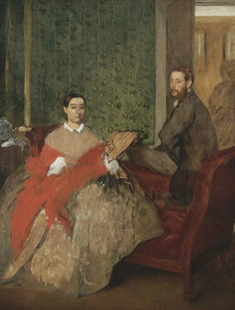 Edmondo and Thérèse Morbilli, c.1865 Canvas Print