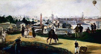 Edouard Manet , View of the Universal Exposition in Paris, 1867, oil on canvas. France, 19th century. Canvas Print