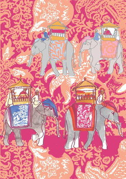 Elephants, 2013 Canvas Print