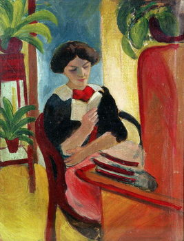 Elizabeth Reading Canvas Print