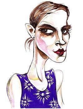 Emma Watson -  caricature Canvas Print