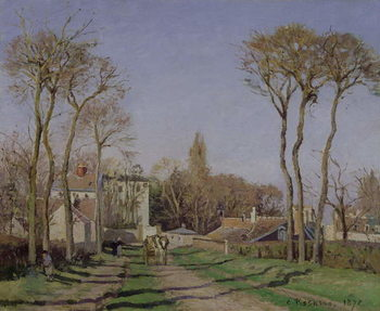 Entrance to the Village of Voisins, Yvelines, 1872 Canvas Print