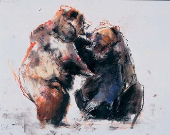 European Brown Bears, 2001 Canvas Print
