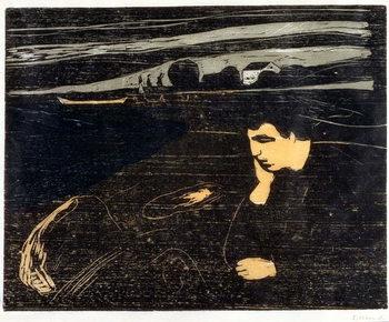 Evening, Melancholy: On the Beach (Abend, Melancholie am Strand) Canvas Print