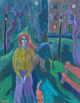 Evening Walk, 2005 Canvas Print