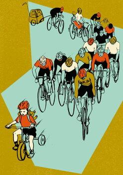 Family Race Canvas Print