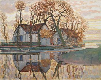Canvas Print Farm near Duivendrecht