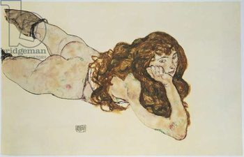 Female Nude Lying on her Stomach Canvas Print
