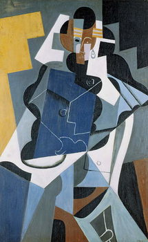Figure of a Woman, 1917 Canvas Print