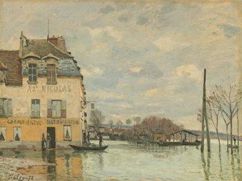 Flood at Port-Marly, 1872 Canvas Print