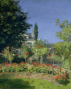Canvas Print Flowering Garden at Sainte-Adresse, c.1866