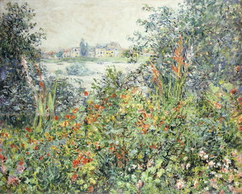 Canvas Print Flowers at Vetheuil; Fleurs a Vetheuil, 1881