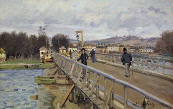 Footbridge at Argenteuil, 1872 Canvas Print