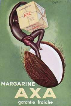 Advertisement for 'Axa' margarine from 'L'Art Menager' magazine 1933 Canvas Print