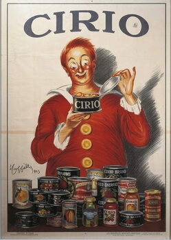 Advertisement for Cirio food preserve, by Leonetto Cappiello , illustration, 1923 Canvas Print