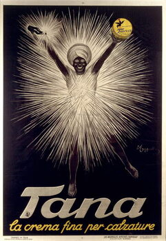 Advertisement for Tana shoe polish by Leonetto Cappiello , poster, 1925 Canvas Print