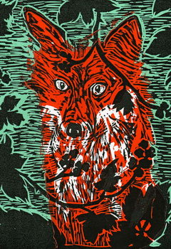 Fox in the Brambles, 2011, Canvas Print