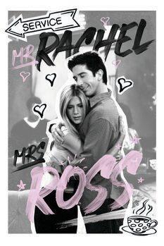Canvas Print Friends - Rachel & Ross