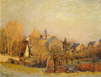 Frosty Morning in Louveciennes, 1873 Canvas Print
