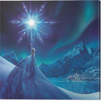 Canvas Print Frozen - Elsa Ice Star