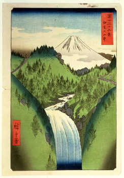 Fuji from the Mountains of Isu, No.22 from the series '36 Views of Mt.Fuji' ('Fuji Saryu Rokkei'), Canvas Print