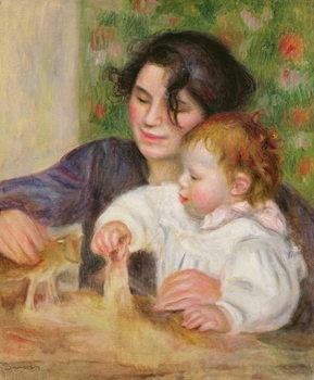 Gabrielle and Jean, c.1895-6 Canvas Print