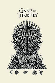 Canvas Print Game of Thrones - Iron Throne
