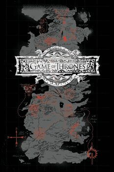 Canvas Print Game of Thrones - Map
