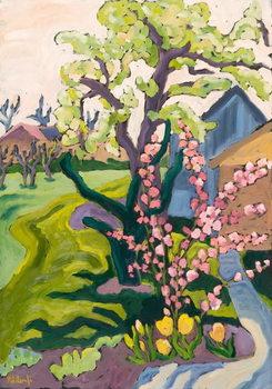 Garden in Dusk Light, 2006 Canvas Print