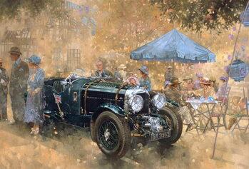 Garden party with the Bentley Canvas Print