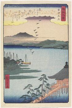 Canvas Print Geese Homing at Katada, March 1857