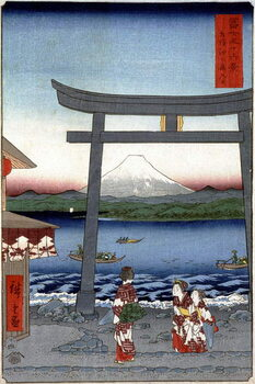 Canvas Print Geishas and Mount Fuji