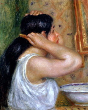 Girl Combing her Hair, 1907-8 Canvas Print